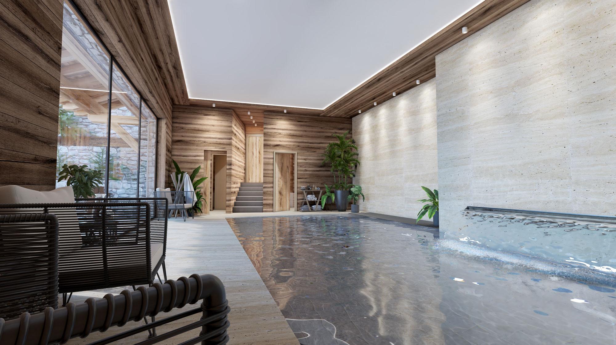 chalet suisse piscine